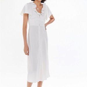 Urban Outfitters Ruffle Button Midi Dress NWT| M